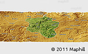 Satellite Panoramic Map of Qingzhen, physical outside