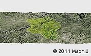 Satellite Panoramic Map of Qingzhen, semi-desaturated