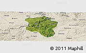Satellite Panoramic Map of Qingzhen, shaded relief outside