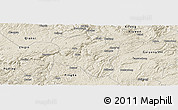 Shaded Relief Panoramic Map of Qingzhen