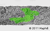 Political Panoramic Map of Renhuai, desaturated