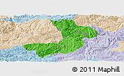 Political Panoramic Map of Renhuai, lighten