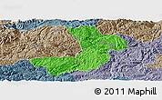 Political Panoramic Map of Renhuai, semi-desaturated