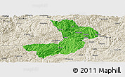 Political Panoramic Map of Renhuai, shaded relief outside