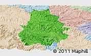 Political Panoramic Map of Shuicheng, lighten