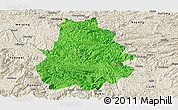 Political Panoramic Map of Shuicheng, shaded relief outside