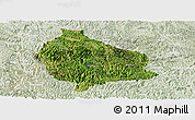 Satellite Panoramic Map of Wangmo, lighten