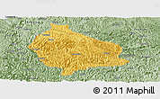 Savanna Style Panoramic Map of Wangmo