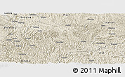 Shaded Relief Panoramic Map of Wangmo