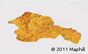 Political Panoramic Map of Weining, single color outside