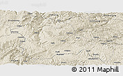 Shaded Relief Panoramic Map of Weining
