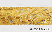 Physical Panoramic Map of Xifeng