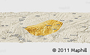 Physical Panoramic Map of Xifeng, shaded relief outside