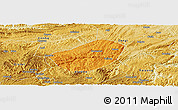 Political Panoramic Map of Xifeng, physical outside