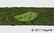 Satellite Panoramic Map of Xifeng, darken