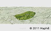 Satellite Panoramic Map of Xifeng, lighten