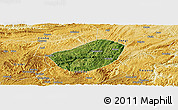 Satellite Panoramic Map of Xifeng, physical outside