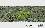 Satellite Panoramic Map of Xifeng, semi-desaturated