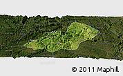 Satellite Panoramic Map of Xingren, darken