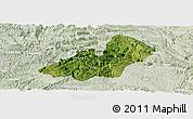 Satellite Panoramic Map of Xingren, lighten
