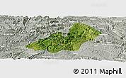 Satellite Panoramic Map of Xingren, lighten, semi-desaturated