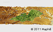Satellite Panoramic Map of Xingren, physical outside