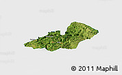 Satellite Panoramic Map of Xingren, single color outside