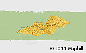 Savanna Style Panoramic Map of Xingren, single color outside