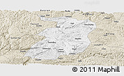 Classic Style Panoramic Map of Xingyi