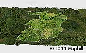 Satellite Panoramic Map of Xingyi, darken