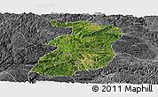 Satellite Panoramic Map of Xingyi, desaturated