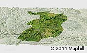 Satellite Panoramic Map of Xingyi, lighten