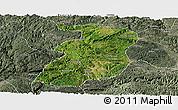 Satellite Panoramic Map of Xingyi, semi-desaturated