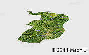 Satellite Panoramic Map of Xingyi, single color outside