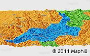 Political Panoramic Map of Xishui