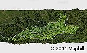 Satellite Panoramic Map of Xishui, darken