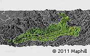 Satellite Panoramic Map of Xishui, desaturated