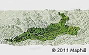 Satellite Panoramic Map of Xishui, lighten