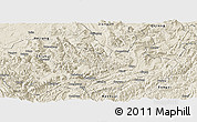 Shaded Relief Panoramic Map of Xishui