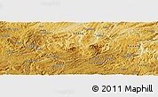Physical Panoramic Map of Xiuwen