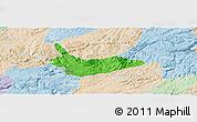 Political Panoramic Map of Xiuwen, lighten
