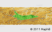 Political Panoramic Map of Xiuwen, physical outside