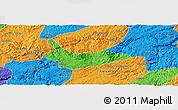 Political Panoramic Map of Xiuwen