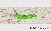 Political Panoramic Map of Xiuwen, shaded relief outside