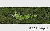 Satellite Panoramic Map of Xiuwen, darken