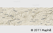 Shaded Relief Panoramic Map of Xiuwen