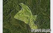 Satellite Map of Zhenfeng, darken
