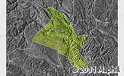 Satellite Map of Zhenfeng, desaturated
