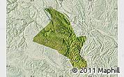 Satellite Map of Zhenfeng, lighten