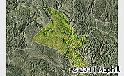 Satellite Map of Zhenfeng, semi-desaturated
